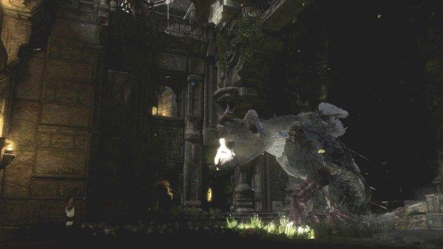 Das Wesen hat seinen eigenen Kopf, lässt sich aber rufen und dient auch als Kletterhilfe.