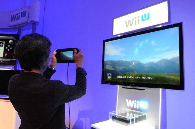 Großmeister Shigeru Miyamoto testet Star Fox für die Wii U.