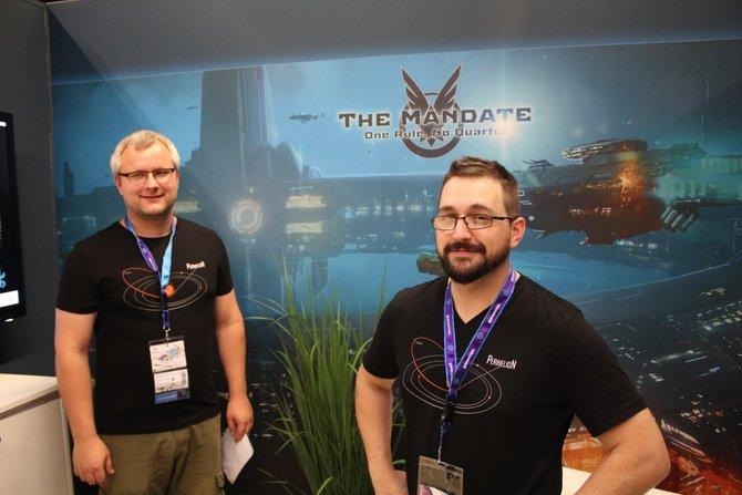 Das sind Ole Herbjørnsen (links), Chef von Perihelion Interactive, und Garret AJ, der Kreativ-Chef, von The Mandate.