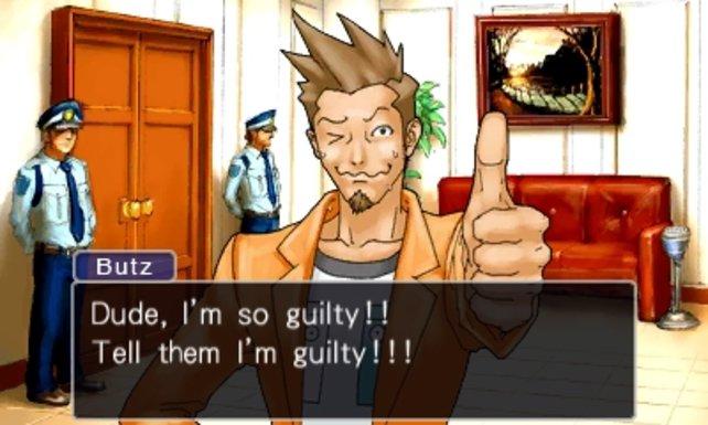 """""""Ich bin ja sowas von schuldig!"""" Mit so einer Aussage die Unschuld des Angeklagten zu beweisen, ist ein wenig schwierig."""