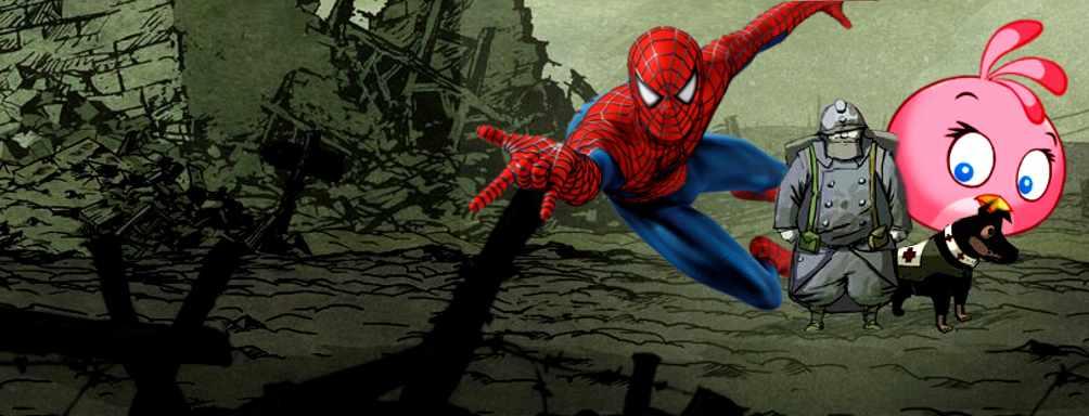 Mit Spider-Man und b�sen V�geln