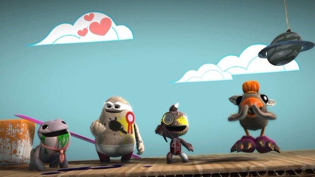 Sackboy feiert sein Debüt auf der PlayStation 4.