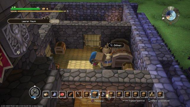 In der Burg findet ihr weitere Gegenstände, mit der ihr später eure Siedlung leveln könnt.