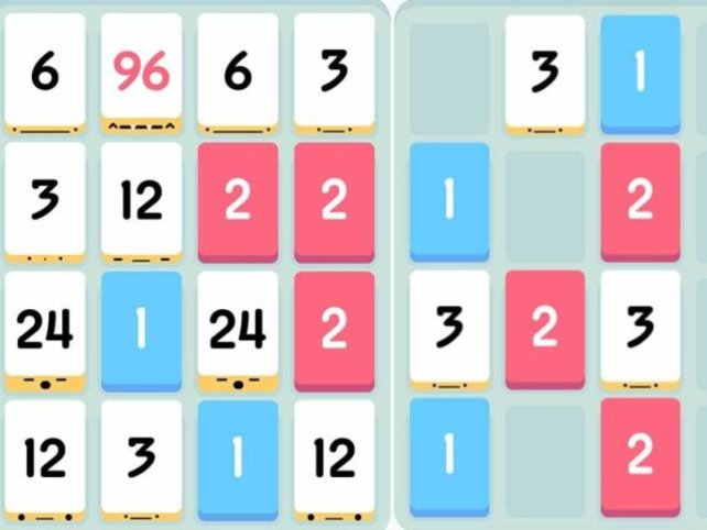 Simpel, aber genial: Fügt gleichwertige Zahlenblöcke zusammen, um möglichst viele Punkte zu erzielen.