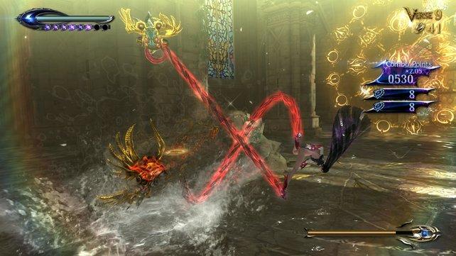 Wie schon im Vorgänger zählt das Spiel die Angriffsketten mit.