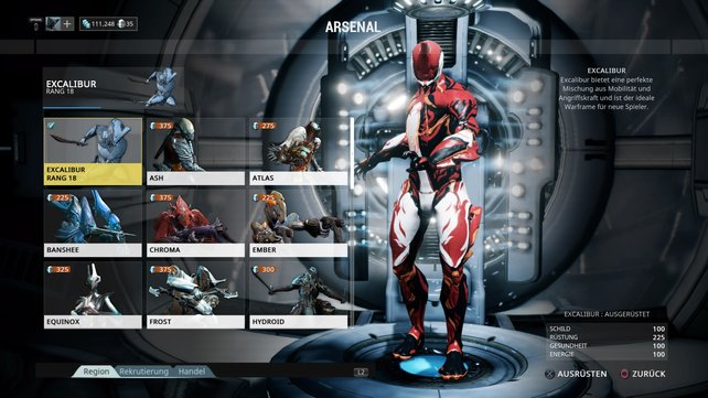 Warframe: Excalibur