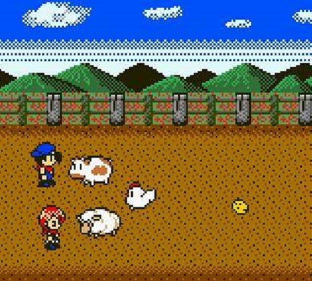 Klar ist es auf dem Gameboy Color schwer, realistische Grafik zu erzeugen (Harvest Moon 2 GBC). Aber das ist auch eine stilistische Frage. Bis heute sehen die Kühe und Menschen kaum anders aus.