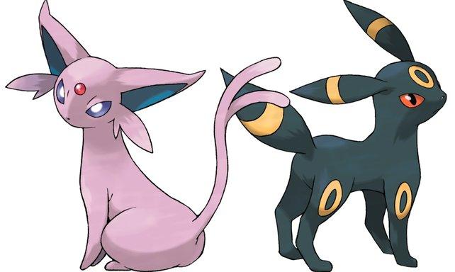 Jetzt neu mit dabei: Psiana und Nachtara aus der zweiten Generation von Pokémon.