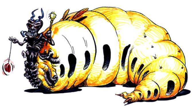 Queen Slug-for-a-Butt gehört zu euren Feinden bei Earthworm Jim. Das dürfte auch auf den ersten Blick ersichtlich sein.