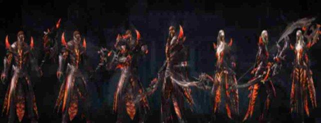 Die neue Schattenfusion-Rüstung und die passenden Waffenskins verleihen euch ein völlig neues Aussehen.