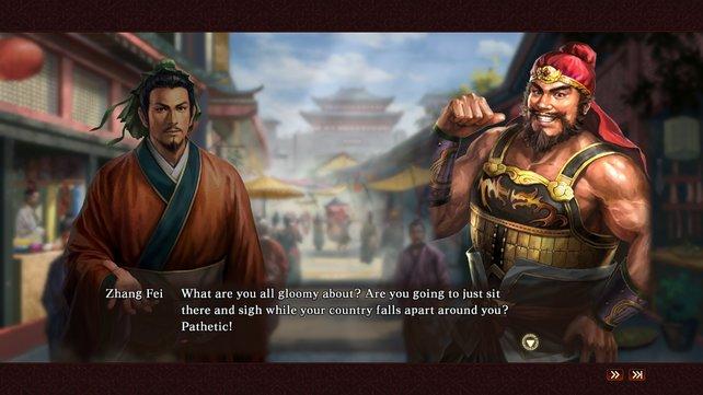 Die Geschichte erzählt das Spiel in Textblöcken.