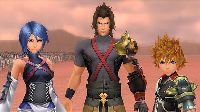 Aqua, Terra und Ventus sind die Helden in Kingdom Hearts - Birth by Sleep