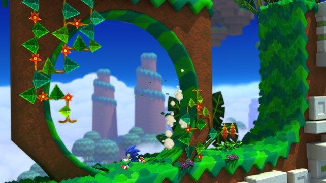 Loopings dürfen bei Sonic nicht fehlen.