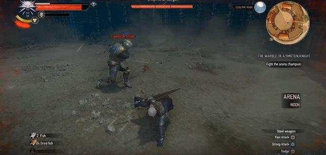 Gregoire de Gorgon schlägt ordentlich zu. Weicht seinen Angriffen aus und setzt gezielte Treffer.