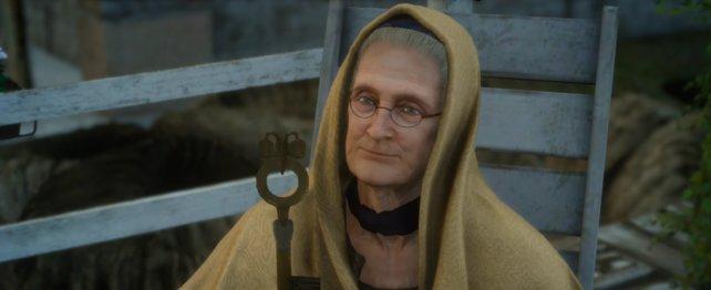 Die alte Dame auf der Veranda wird euch den Schlüssel geben!