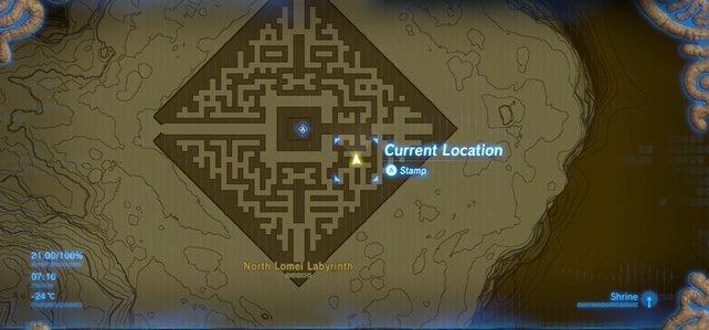 Positioniert euch genau so, wie es euch die Karte zeigt.