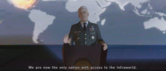 """Das Militär hat es geschafft Zugang zu Aidens Heimat zu finden, zur """"Infraworld"""""""