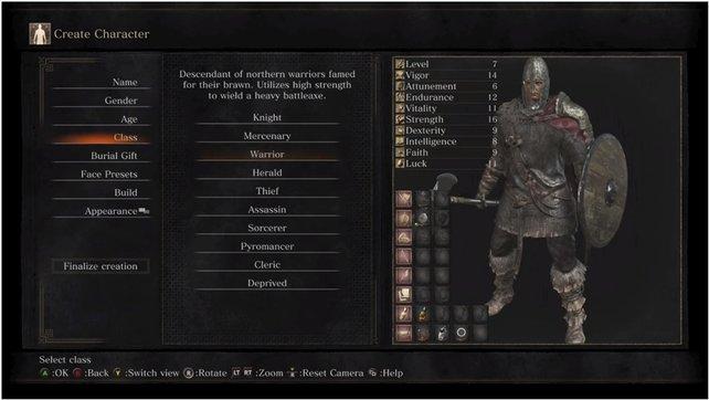 Stärke und Vitalität zeichnen die Klasse des Kriegers aus.