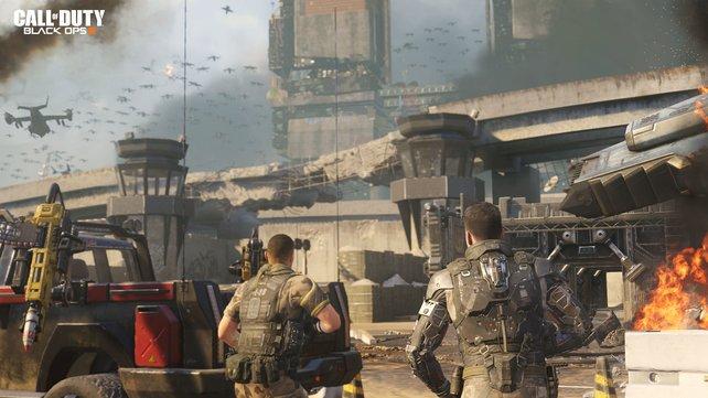 Wieder einmal schwört Call of Duty auf eine düstere Zukunft ein.