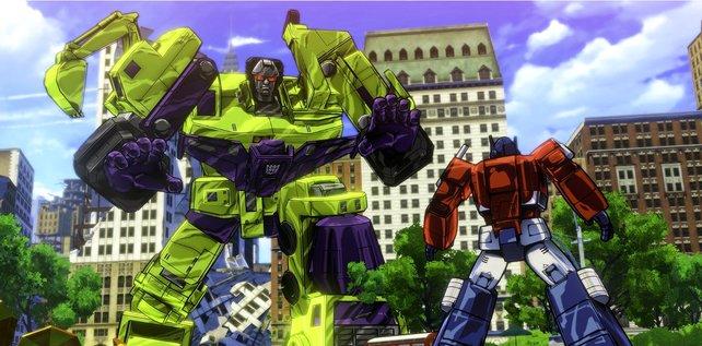Transformers - Devastation: auch meterhohen Feinden haut ihr euren Stahl ins Gesicht.