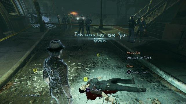 Ein guter Detektiv untersucht penibel den Tatort.
