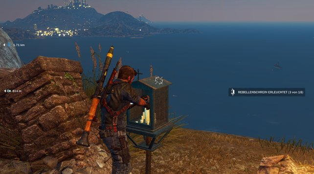 Die Anzeige rechts zeigt euch, wie viele Schreine euch auf dieser Insel noch fehlen.
