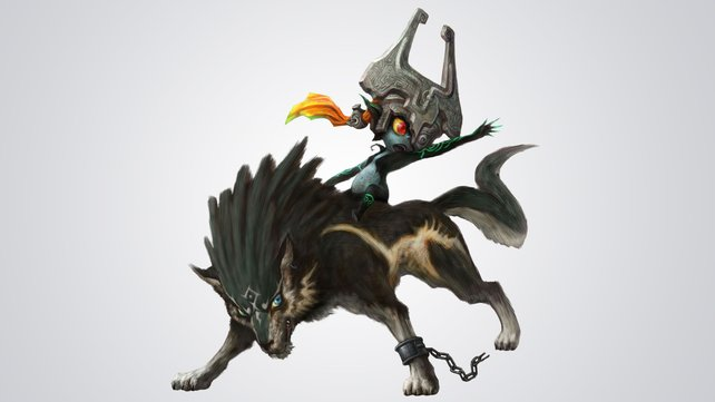 Ein unschlagbares Team: Wolf-Link und Midna.