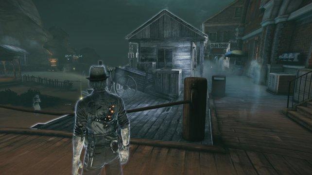 Im Laufe des Abenteuers schalten sich neue Bereiche im düsteren Ort Salem frei.