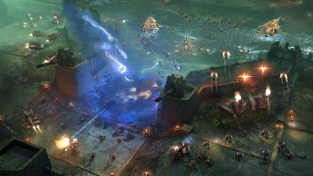 Ziel in den Mehrspielergefechten ist es, den Energiekern des Gegners zu zerstören.