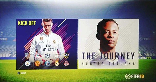 """Anstoss und """"The Journey"""": Das sind die beiden Modi der Demo zu FIFA 18. (Bildquelle: fifauteam.com)"""