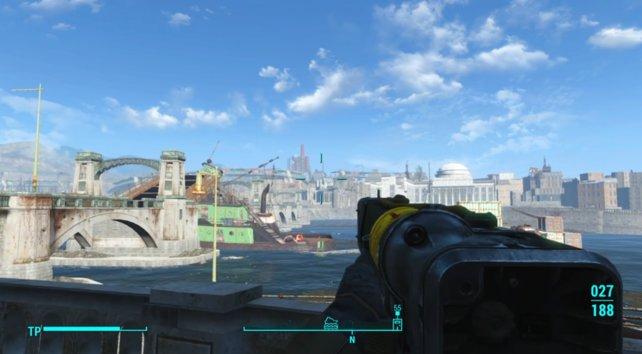 Euer nächstes Ziel liegt innerhalb der Ruinen von Boston.