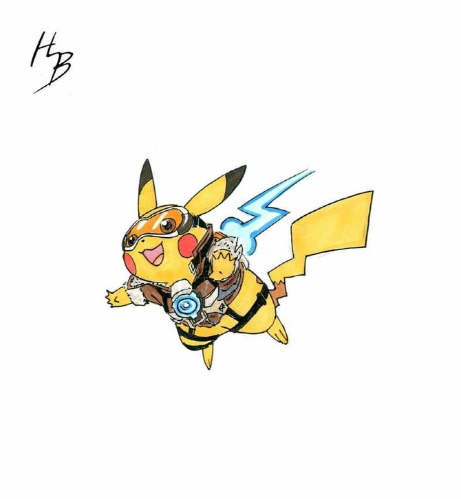 Tracer trifft auf Pikachu und daraus entsteht ... Trachu? Pikacer? Entscheidet selbst!