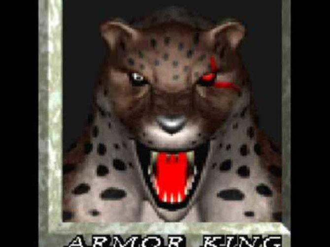 So pixelig steht Armor King im allerersten Tekken-Spiel zur Auswahl.