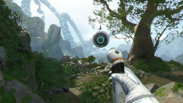 Robinson - The Journey punktet auf der PS4 Pro mit mehr Vegetation.