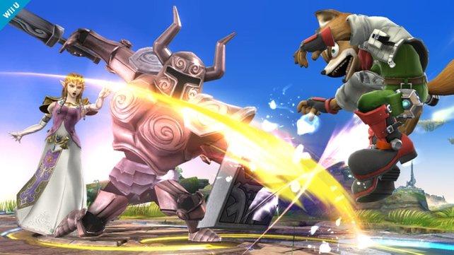 Prinzessin Zelda heizt Fox McCloud ein. Was da wohl der Fuchs sagt?
