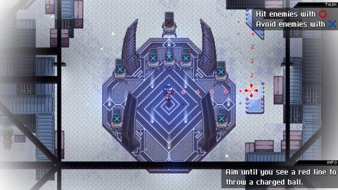 In Crosscode werft ihr Energiebälle, um knifflige Rätsel zu lösen.