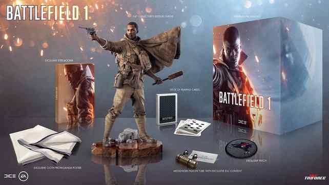 Die Collector's Edition von Battlefield 1 ist sehr teuer, bietet euch allerdings auch tolle Inhalte.