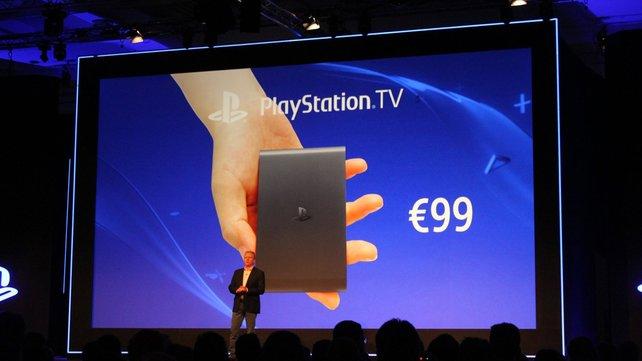 Sony kündigt auf ihrer Gamescom-Pressekonferenz das Gerät für Europa an.