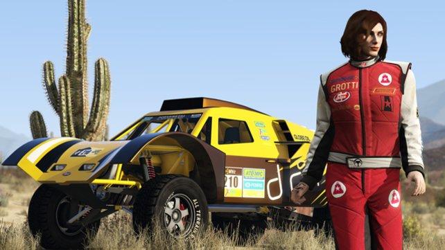 """Für jede neue Wagenklasse gibt es besondere """"Stunt-Outfits""""!"""