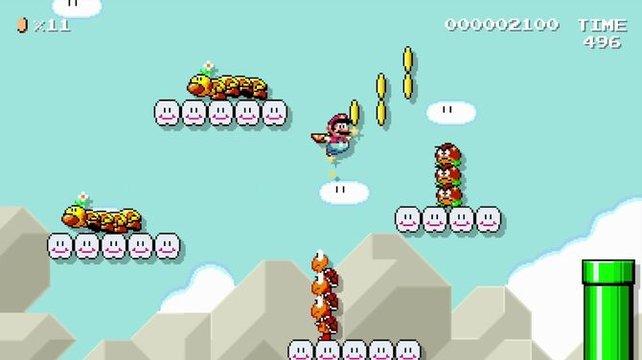 Natürlich muss nicht jeder Level ein Kunstwerk sein. Wie wäre es, wenn ihr euch einfach euer eigenes Durchschnitts-Mariospiel zusammenleimt?
