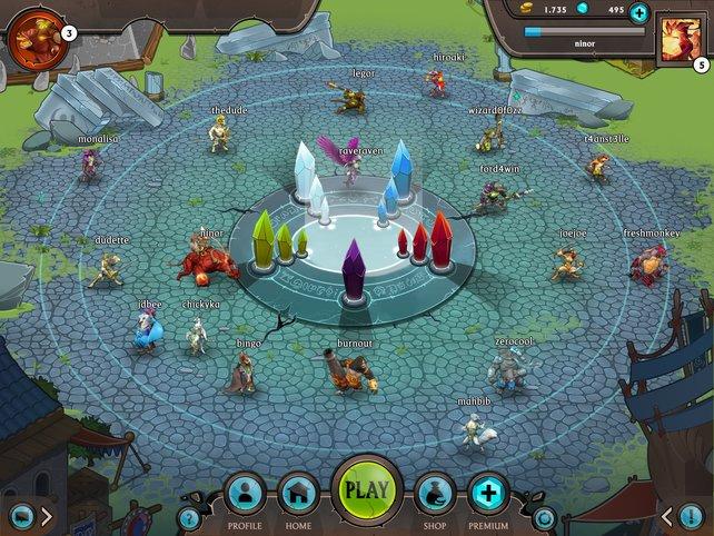 Im Nexus treffen sich Spieler aus aller Welt.