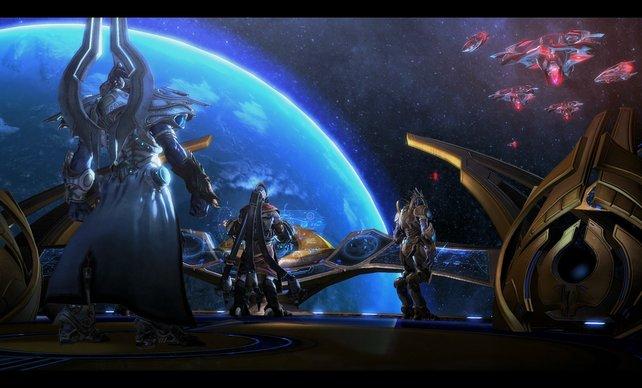 Einen Großteil der Handlung erlebt ihr wie in früheren Teilen an Bord eures Raumschiffes.