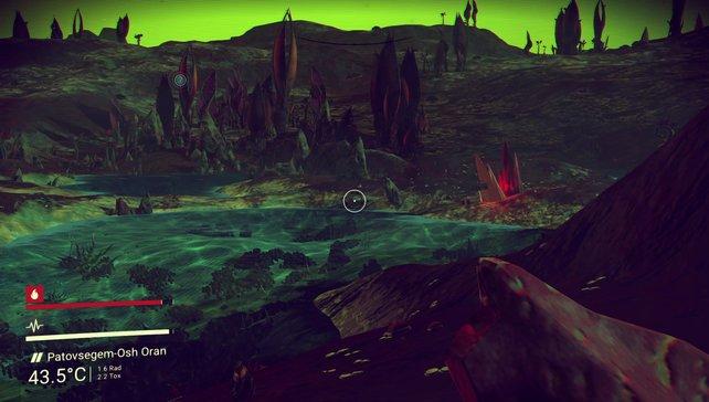 Die kunterbunten Exo-Planeten beeindrucken mit bizarrer Umgebung, aber sich wiederholenden Elementen.