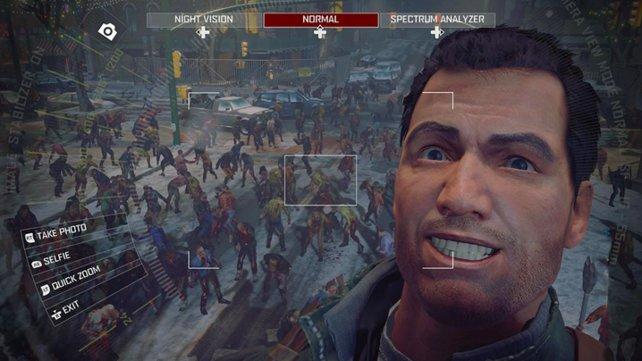 Auf dem PC hat Frank auch bei großen Zombieversammlungen gut Lachen.