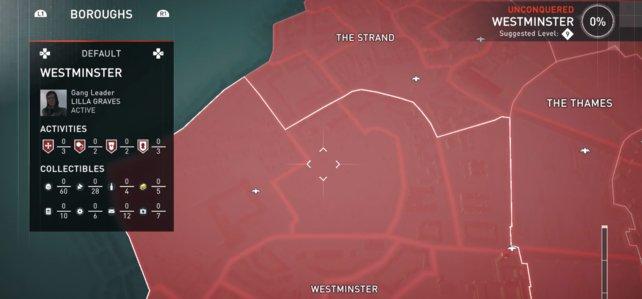 Hebt euch Westminster bis zum Schluss auf, dieser Bezirk ist schwer zu erobern!