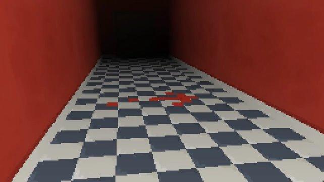 Folgt dem roten Pfeil durch die Wand.