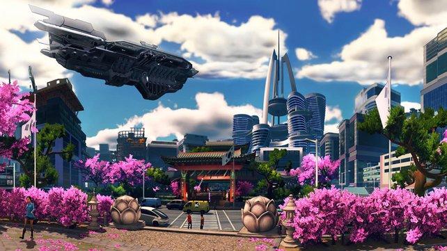 Das futuristische Comic-Seoul wirkt bisher austauschbar. Auch an den Details und der Lebendigkeit mangelt es noch.