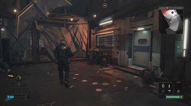 Betretet diese Tür rechts, wenn ihr auf Gallois treffen wollt.