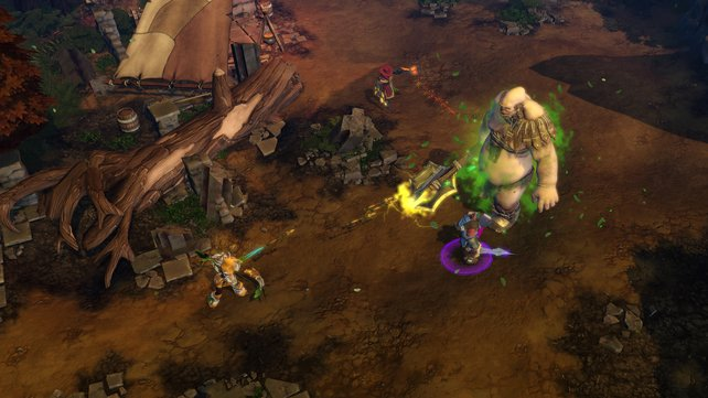 Gegen dicke Boss-Gegner wie diesen Zyklopen braucht ihr eine gute Taktik und müsst die Kräfte eurer Helden geschickt einsetzen.
