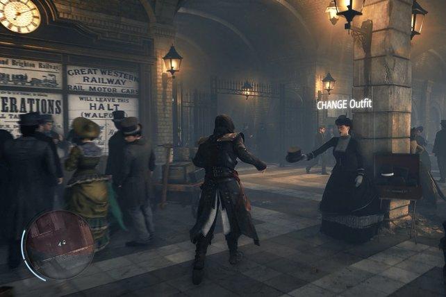 So ein Assassinengewand ist zu auffällig. In Victory schlüpft ihr zwischendurch in bequemere und vor allem unauffälligere Kleidung.